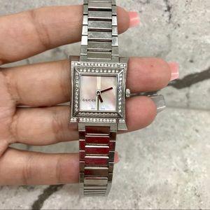Gucci diamond accent watch